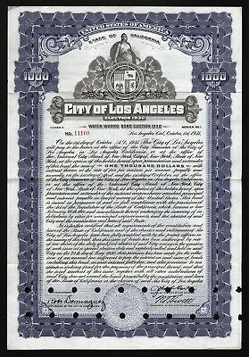1931 California: City of Los Angeles - Water Works Bond, Election 1930