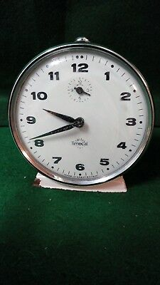 Vintage Wind Up Collectible Smiths Timecal  Alarm Clock