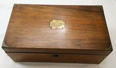 Antique Writing Slope/ Box With Secret Drawers
