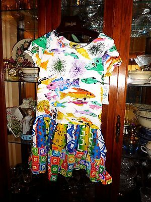 Jams World  RARE Girls L Hattie Hawaiian Dress FAB NEW NWT Tropical Flower Shop