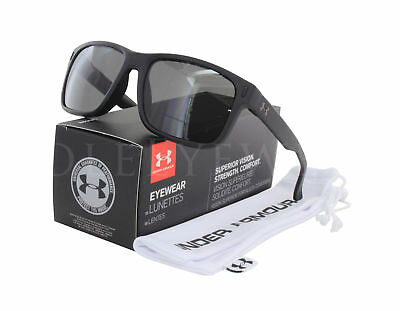 8893bd9f782 NEW Under Armour Assist Storm 8600101 010100 Satin Black   Gray Sunglasses