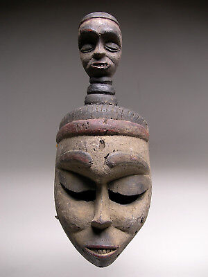 AUTHENTIC ~ Old IBIBIO IDIOK EKPO MASK From Nigeria ~ RARE QUALITY !!!