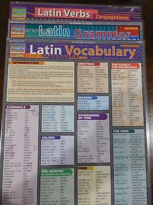 Barcharts Lot Of 3 Different Latin Quick Study Guide
