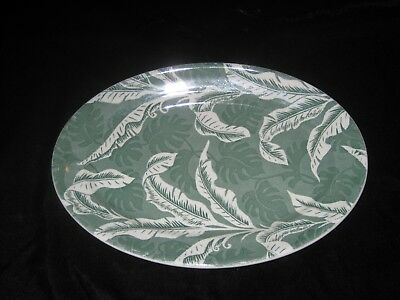 Wallace Vintage green dinner plate in Shadowleaf pattern 1940's china