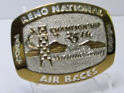 Belt Buckle 25 Silver Anniversary Reno National Championship Air Races Crumrine
