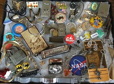 VTG Junk Lot, Sterling,GF, Jade, Lot Of Coins, Harmonica, Watches