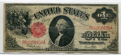 1917 $1 Large Size Legal Tender Note (United States Note)  Fine - Friedberg # 40