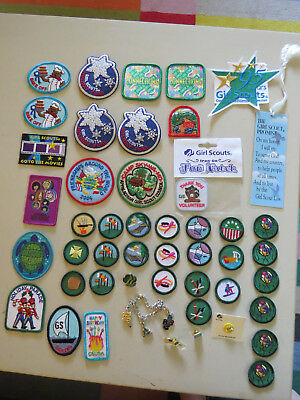 HUGE Lot Of Girl Scout Patches Badges Pins All New and More