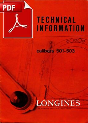 Technical Documentation Longines cal. 501 503 - 19 pages - PDF version (English)