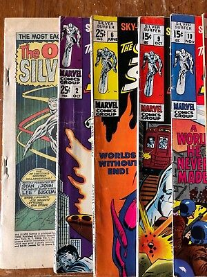 Silver Surfer 1,2,6,9,10,11,12,16 Low To Mid-Grade Lot