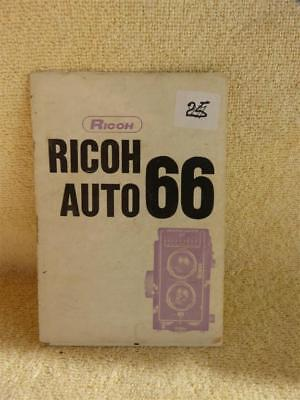 Ricoh Auto 66 Instruction Book