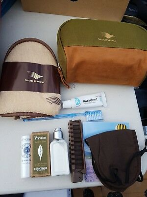 Garuda Indonesia Tolietry Amenity Bag Kit with L'occitane products