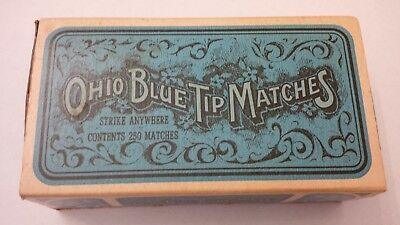 Vintage Ohio Blue Tip Strike Kitchen Matches The Ohio Match Co. Wadsworth Ohio