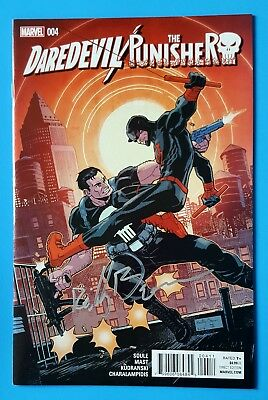 Daredevil / Punisher Seventh Circle #4 2016 Signed By (Ca) Reilly Brown + Coa Nm