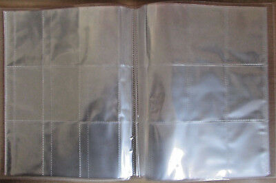 Clear Cover Collector Trading Card Album Folder Portolfio 9 Pocket Page Sleeves