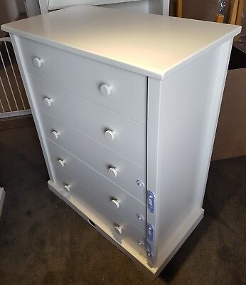 Boori 5 Draw White Chest of Drawers - RRP $999 - Excellent condition