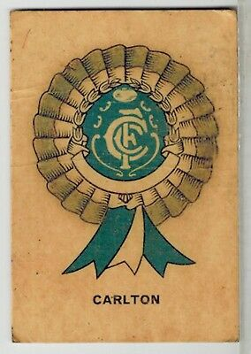 Sun Valley / Twisties 1968 Football Game - VFL AFL -  Carlton Collector Card B