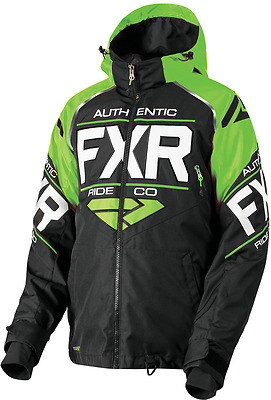 FXR MENS CLUTCH Black/Lime/White Snow Winter Jacket - LARGE or 2XL XXL - NEW