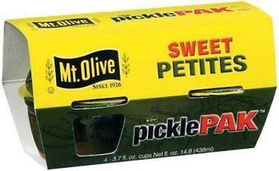 Mt. Olive Pickle Pack, Sweet Petites, 4-3.7oz Cups (Pack of 2)
