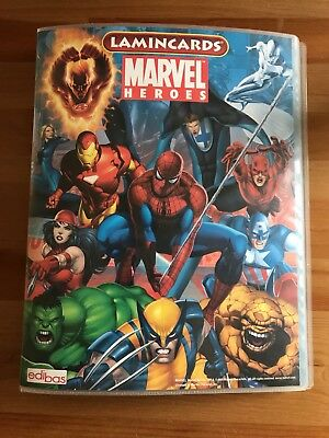MARVEL HEROES Lamincards EDIBAS 2008 Complete Set with Album 162 cards NEW RARE