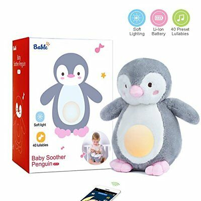 Bable Baby Sound Machine and Night Light Sleep Aid White Noise with 40 Soothi...
