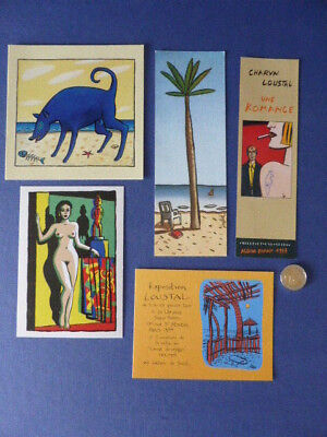 Lot Loustal n°12 - cartes postales + flyers exposition + marque page