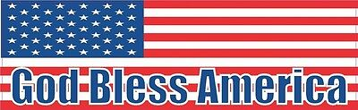 10in x 3in God Bless America United States Flag Bumper Sticker Decal Stickers...
