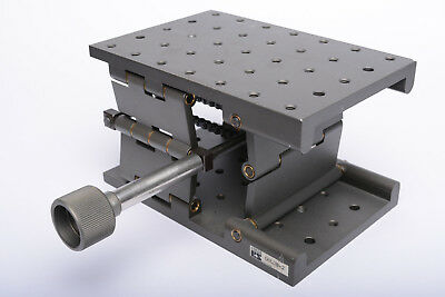 "Kinetic Systems 06LJH-2 lab jack, like Newport 270 or 280, 5"" x 7"", 1/4-20 holes"