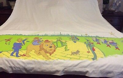 Rare Vintage Wizard of Oz Twin Muslin Flat Sheet