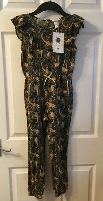H&M Katie Scott Collaboration Girls 7-8 Monkey Jumpsuit New With Tags