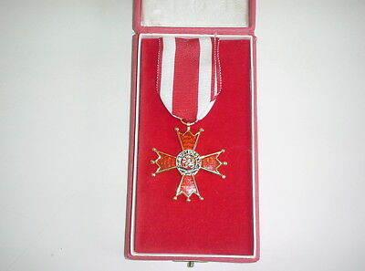 Czech army repro WW2 WWII era ORDER OF THE WHITE LION CROSS FOR VICTORY medal