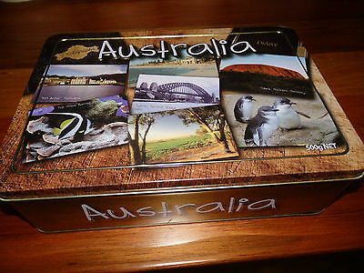 """Collectable Unibic Anzac biscuit tin . """" Australia Diary """". 2011"""