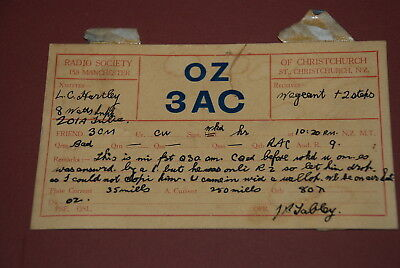 Early Christchurch New Zealand QSL OZ3AC Postcard from C1930