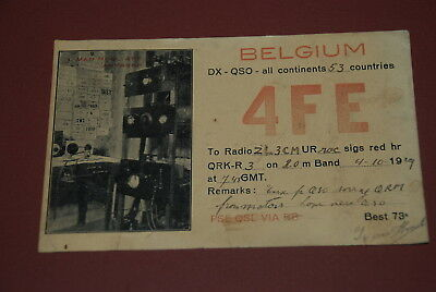 Early Belgium QSL 4FE Postcard from 1929 ...