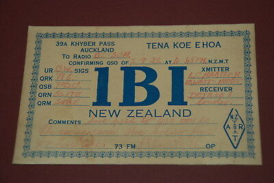 Early Auckland New Zealand QSL 1BI Postcard from 1928