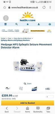 Med Page MP5 Seizure Movement Monitor for epileptic or febrile seizures