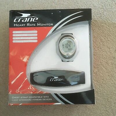 Crane Heart Rate Monitor. New/Sealed. incl Watch, Chest Strap,