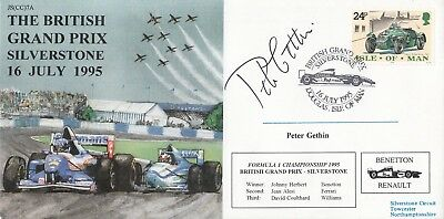 JS(CC)7ad Isle of Man British Grand Prix Silverstone Signed  Peter Gethin 30 Gra