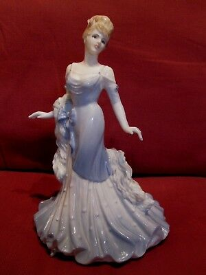Stunning Retired Coalport Figurine Of The Year Debbie Ladies Of Fashion Series