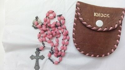 Vintage Rosary Beads With Purse From Knock Ireland