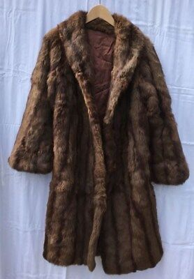 fur coat styled in furs by Martin's c/w shoulder shawl excellent condition