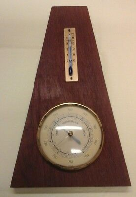 DDR Wetterstation Hydrometer Thermometer Holz