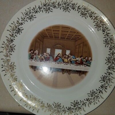 Sanders Mfg Co Lord's Last Supper Vintage Collector Plate