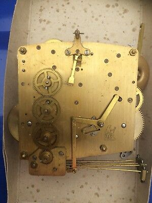 Vintage Perivale Chiming Mantel Clock Movement And Pendulum
