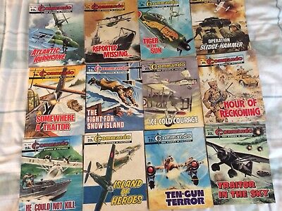 commando comics job lot Of 12