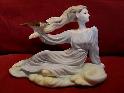 Absolutely Stunning Ltd Edt Coalport Figurine Entitled Air From Elements Series