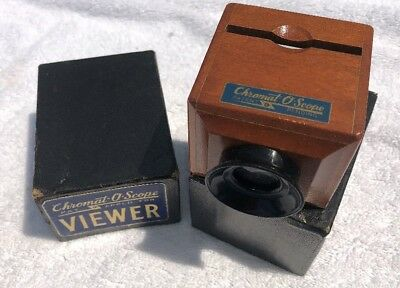 1945 Vintage Chromat-O-Scope Viewer  in Orig Box Mint!!