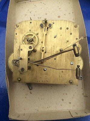 Large Vintage Brass Chiming Dimra Dgrm German Mantel Clock Movement - Steampunk