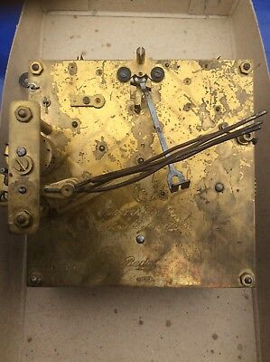 Large Vintage Brass Chiming Musterschutz Baduf German Mantel Clock Movement