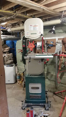 """Grizzly G0555X Extreme Bandsaw w/ 6"""" Riser Block and Mobile Base"""